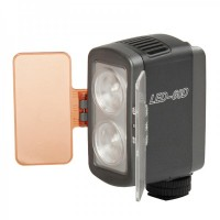 7W 350LM 2-LED White Light with 2-Filters for Camera/Camcorder