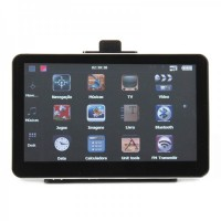 "7.0"" Touch Screen LCD WinCE 5.0 GPS Navigator w/ Bluetooth/FM/AV + 4GB US/Canada/Mexico Maps TF Card"