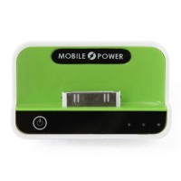 1100mAh USB Rechargeable Emergency Power Charger Battery Pack for iPhone 4/3G/iPad/iPad 2 - Green