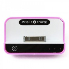 1100mAh USB Rechargeable Emergency Power Charger Battery Pack for iPhone 4/3G/iPad/iPad 2 - Purple
