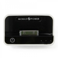 1100mAh USB Rechargeable Emergency Power Charger Battery Pack for iPhone 4/3G/iPad/iPad 2 - Black