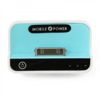1100mAh USB Rechargeable Emergency Power Charger Battery Pack for iPhone 4/3G/iPad/iPad 2 - Blue