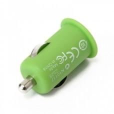 Stylish Car Charging Adapter + USB Cable Set for iPhone 3G/3GS/4/iPod - Green (12 V)
