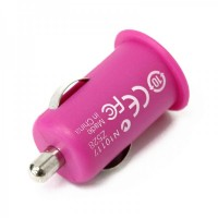 Stylish Car Charging Adapter + USB Cable Set for iPhone 3G/3GS/4/iPod - Pink (12 V)