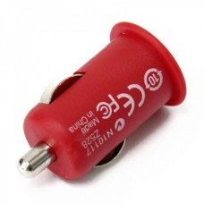 Stylish Car Charging Adapter + USB Cable Set for iPhone 3G/3GS/4/iPod - RED (12 V)