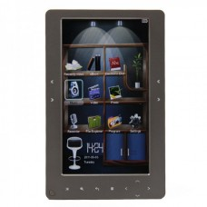 "7.0"" TFT Touch Sense Keys E-Book Reader 720P MultiMedia Player w/ TF/AV-Out - Grey (4GB)"