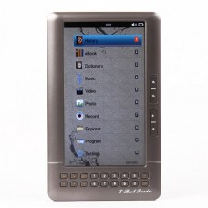 "7.0"" LCD E-Book Reader Multimedia Player w/TF/Dual 3.5mm Audio Jacks - Iron Grey (4GB)"