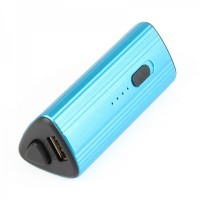 USB Rechargeable 2400mAh Emergency Battery Pack Charger w/ 1-LED Flashlight/Adapters