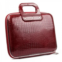 "Protective Crocodile PU Leather Handbag for 10~12"" Tablet PC - Red"