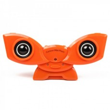 Cute Cartoon Style Rechargeable MP3 Player Speaker with USB/SD - Orange