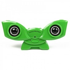 USB Rechargeable Portable Music Speaker with Clip & USB/SD/MMC Slot - Green