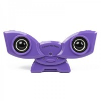 USB Rechargeable Portable Music Speaker with Clip & USB/SD/MMC Slot - Purple