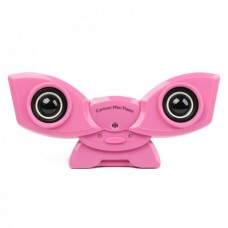 Cute Cartoon Style Rechargeable MP3 Player Speaker with USB/SD - Pink
