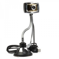 USB 2.0 300K Pixel Driverless Webcam with Microphone for PC/Laptop
