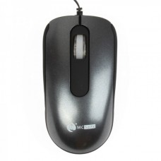 MCSaite USB 2.0 800DPI Optical Mouse with Retractable Cable - deep gray (70CM-Cable)