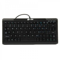 Mini 78-Key USB Wired Keyboard - Black