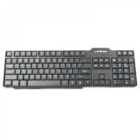 2.4GHz 104-Key Wireless Keyboard + 1600DPI Optical Mouse w/ Receiver Set - Black (1 x AA/1 x AA)
