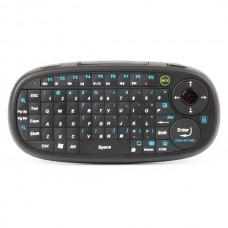 Ergonomic Handheld 2.4GHz Wireless 65-Key Keyboard w/ Receiver - Black