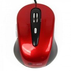 MCSaite USB 2.0 800DPI Optical Mouse - Black + Red (137CM-Cable)