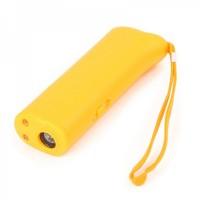 Ultrasonic Dog Repeller Training Device w/ 2-LED Flashlight - Orange (1 x 9V)