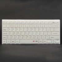 MC Saite 80-Key Mini Wireless Bluetooth V2.0 Keyboard for PC/Laptop/iPad/iPhone - White (2 x AAA)