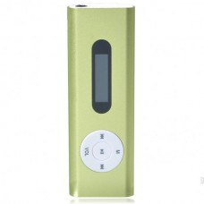 "Designer's USB Rechargeable Mini 0.8"" LCD Clip MP3 Player with TF Slot - Green"
