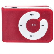 USB Rechargeable Mini Screen-Free Clip MP3 Player - Red (2GB)