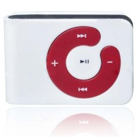 USB Rechargeable Mini Screen-Free Clip MP3 Player - White (2GB)