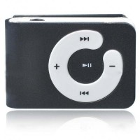 USB Rechargeable Mini Screen-Free Clip MP3 Player - Black (2GB)