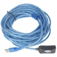 USB A Male to A Female Extension Cable with Booster (9-M Length)