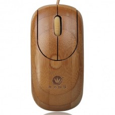 Unique Bamboo 800DPI USB Optical Mouse - Bamboo Color (150cm-Cable)
