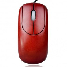 Unique Bamboo 800DPI USB Optical Mouse - Red Sandal Wood Color (150cm-Cable)