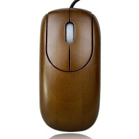 Unique Bamboo 800DPI USB Optical Mouse - Bronze (150cm-Cable)