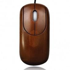 Unique Bamboo 800DPI USB Optical Mouse - Coffee (150cm-Cable)
