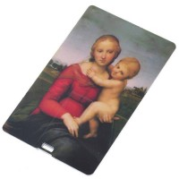 Compact Name Card Style USB 2.0 Flash/Jump Drive - The Small Cowper Madonna (2GB)