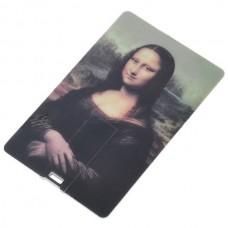 Compact Name Card Style USB 2.0 Flash/Jump Drive - Mona Lisa (4GB)
