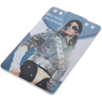 Card Style USB 2.0 Rechargeable MP3 Player with Michael Jackson Figure Pattern (2GB)