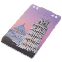 Credit Card Style USB 2.0 Rechargeable MP3 Player - The Leaning Tower of Pisa (2GB)