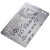 Credit Card Style USB 2.0 Rechargeable MP3 Player - American Express (2GB)