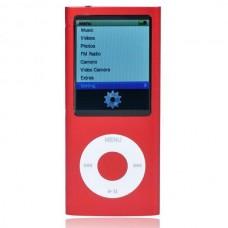 """Designer's Mini 2.0"""" LCD MP3/MP4 Player with Camera/G-Sensor/Voice Recorder/FM - Red (4GB)"""