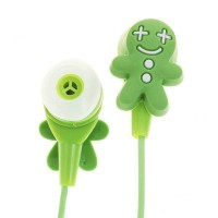 Cute Cookies Doll Style Noise Isolation In-Ear Earphones - Green (3.5mm Jack/80CM-Cable)
