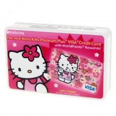 Mini Cassette Shaped Portable Rechargeable USB Host/SD Slot MP3 Player with Speaker (Hello Kitty)
