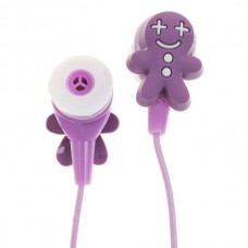 Cute Cookies Doll Style Noise Isolation In-Ear Earphones - Purple (3.5mm Jack/80CM-Cable)