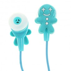 Cute Cookies Doll Style Noise Isolation In-Ear Earphones - Blue (3.5mm Jack/80CM-Cable)