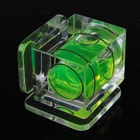 Resin Hot Shoe Double Axis Bubble Spirit Level for DSLR/SLR Cameras