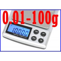 DIGITAL POCKET SCALE 100g/0.01g