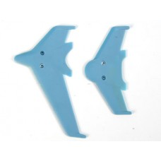 HONEYBEE KING3 Parts:000713 EK1-0442L Vertical horizontal tail blade set(blue)