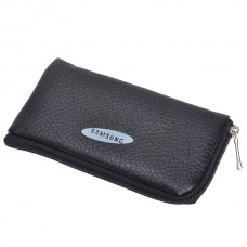 Leather Pouch for Samsung (Black)