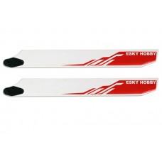 HONEYBEE KING3 Parts:001472 EK4-0004R RED Wooden blade(BEVEL) 275*32*4.5mm
