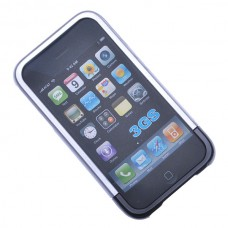 Protective Hard Shell for iPhone 3G (Silver + Black)